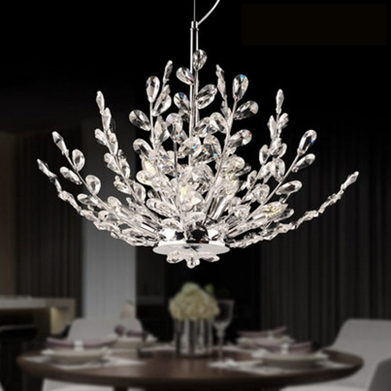 Best And Newest Branch Crystal Chandelier Intended For Zyy Modern Led Crystal Chandelier Branch Crystal Design Bedroom (View 2 of 10)