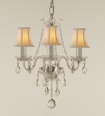 Best And Newest Chandelier Chandeliers Crystal Intended For Stylish Home With Shades Intended For Chandelier With Shades And Crystals (View 1 of 10)