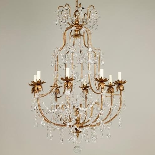 Best And Newest Crystal And Brass Chandelier Throughout Copper Crystal Chandelier Lamp , Brass Chandelier(Id: (View 1 of 10)