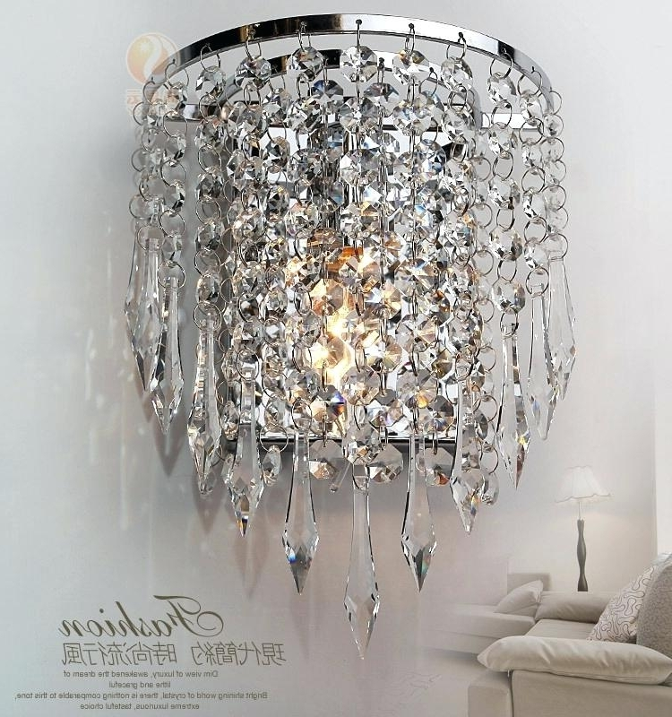 Best And Newest Crystal Chandelier Wall Lights Bed S Wall Mounted Lights Home Depot Pertaining To Wall Mount Crystal Chandeliers (View 4 of 10)