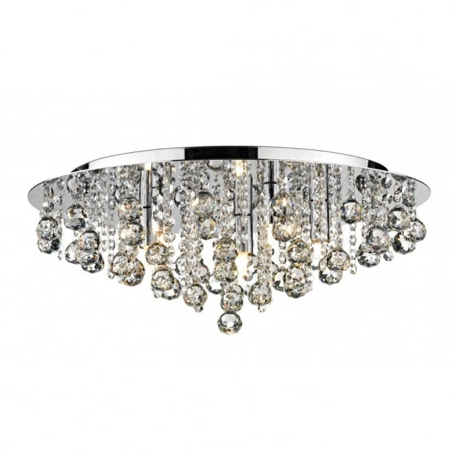 Best And Newest Crystal Flush Chandelier For Low Ceiling Buy Online (View 2 of 10)