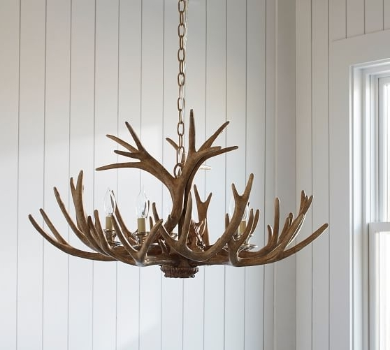 Best And Newest Faux Antler Chandelier (View 2 of 10)