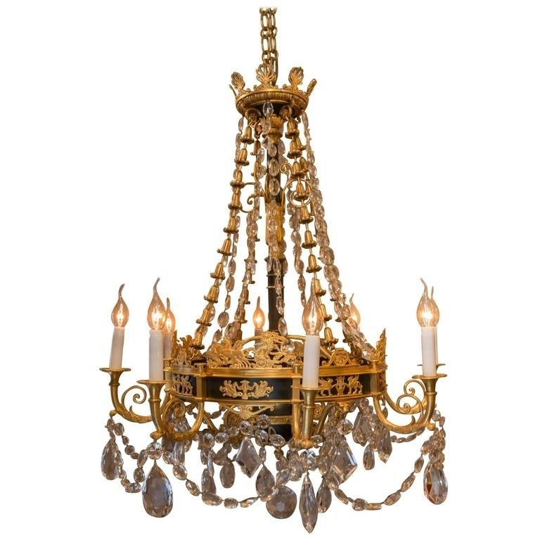 Best And Newest French Bronze Chandelier For French Empire Style, Late 19Th Century, Patinated And Gilt Bronze (View 3 of 10)