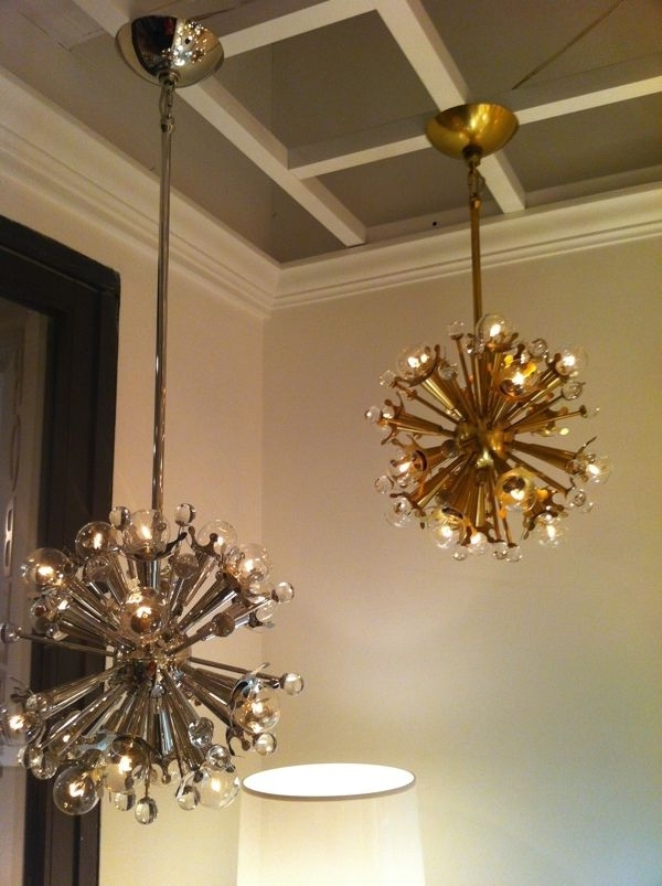 Best And Newest Mini Sputnik Chandelier In Nickel And Brassjonathan Adler For Inside Mini Sputnik Chandeliers (View 3 of 10)