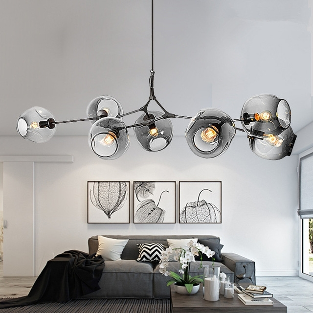 Best And Newest Modern Chandeliers Lighting Branching Bubble Ball Pendant Lamp Gold With Modern Chandeliers (View 3 of 10)