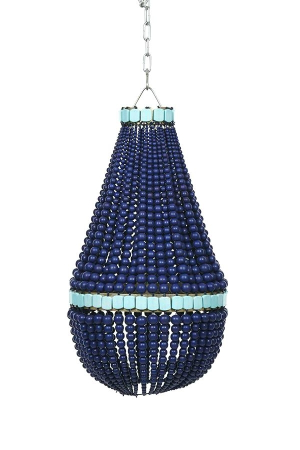 Best And Newest Small Turquoise Beaded Chandeliers With Blue Beaded Chandelier Blue Wood Beaded Chandelier Blue Beaded (View 2 of 10)