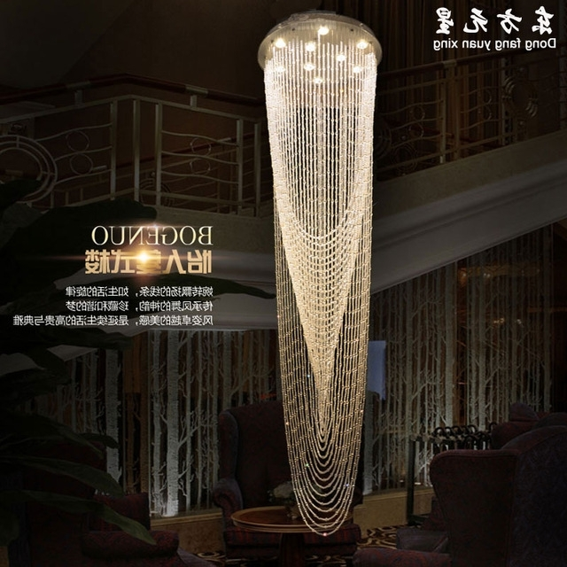 Best And Newest Stair Chandelier Crystal Light Staircase Lamp Hanging Crystal For Stairway Chandelier (View 3 of 10)