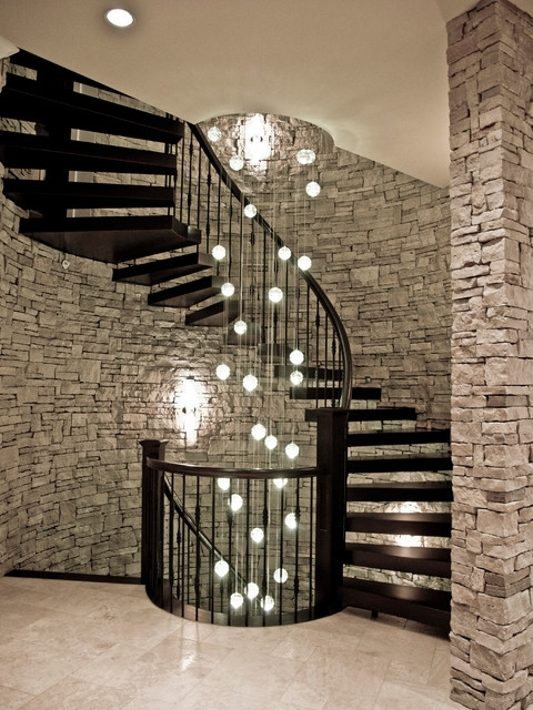 Best And Newest Staircase Chandeliers Regarding Angus – Contemporary – Staircase – Vancouver  Rize Stairs (View 3 of 10)
