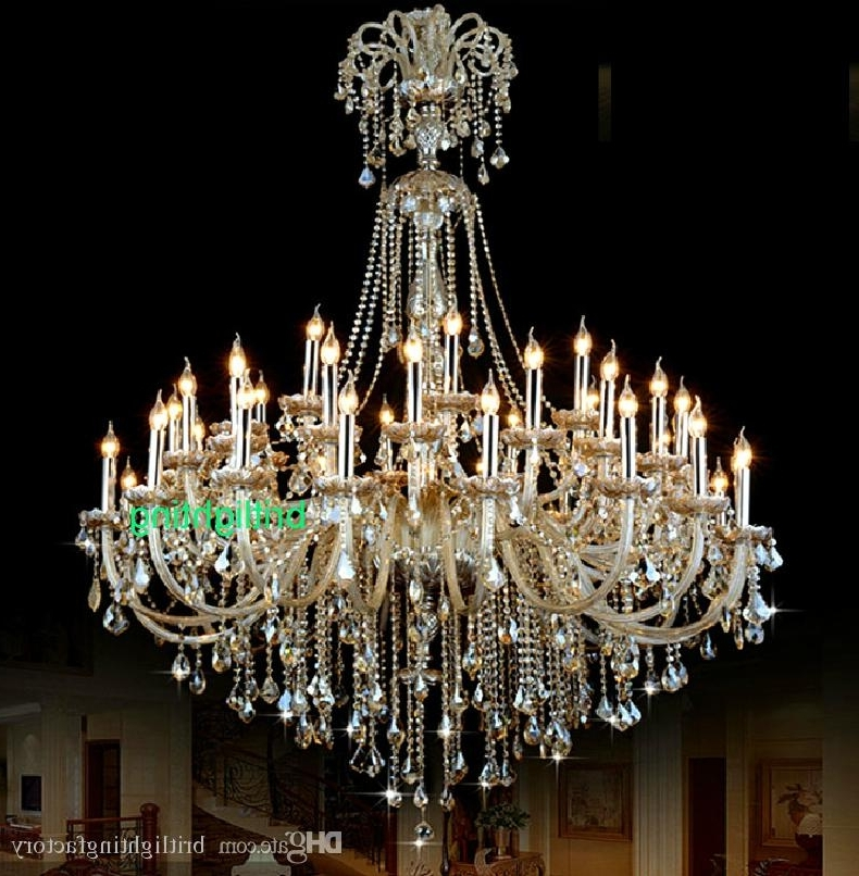 Big Crystal Chandelier Pertaining To Trendy Extra Large Crystal Chandelier Lighting Entryway High Ceiling (View 4 of 10)