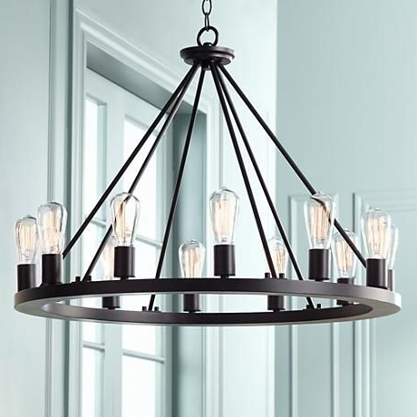 Black Chandelier, Rustic Intended For Black Contemporary Chandelier (View 2 of 10)