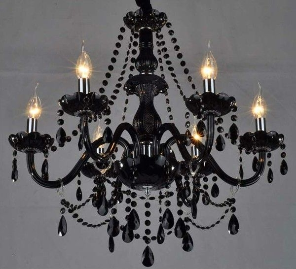 Black Crystal Chandeliers You Ll Love Wayfair For And Plan 11 Regarding Preferred Vintage Black Chandelier (View 2 of 10)