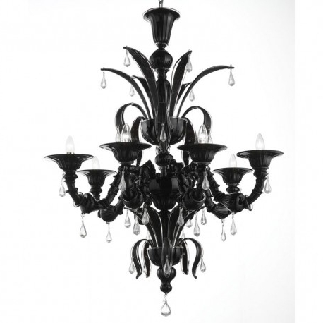 "Black Glass Chandeliers For Most Current Paradiso"" Black Murano Glass Chandelier – Murano Glass Chandeliers (Gallery 4 of 10)"