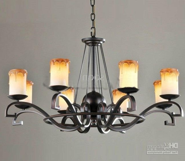 Black Iron Chandeliers In Well Known Black Wrought Iron Chandelier Lighting Roselawnlutheran For (View 3 of 10)