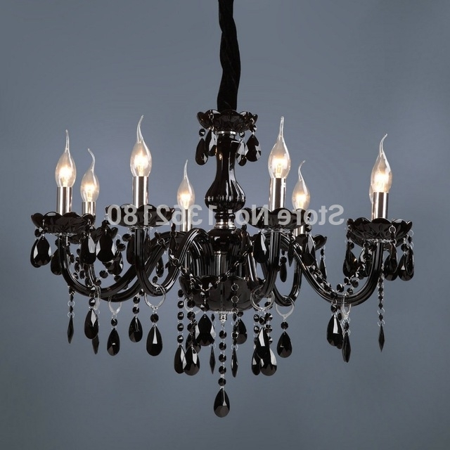 Brand New Classic Black Crystal Glass Chandelier Modern Fashion Art In Trendy Black Glass Chandelier (View 3 of 10)