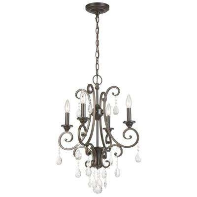 Bronze And Crystal Chandeliers Regarding Current Crystal – Bronze – Chandeliers – Lighting – The Home Depot (View 4 of 10)