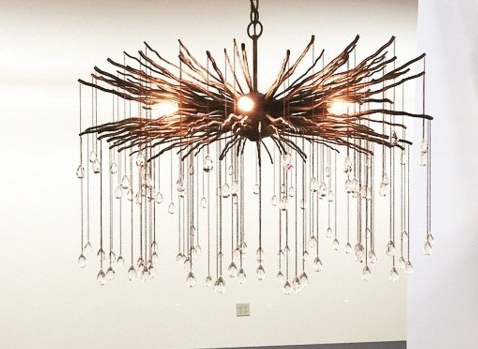 Bronze Branch And Crystal Chandelier – The Designer Insider Throughout Current Branch Crystal Chandelier (View 6 of 10)
