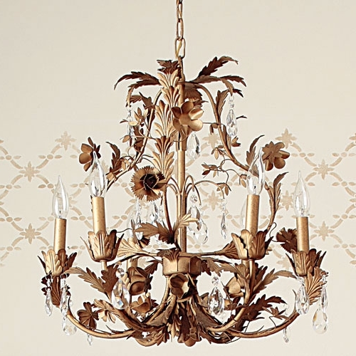 Cadence Gold Leaf Chandelier And Nursery Necessities In Interior With Newest Gold Leaf Chandelier (View 2 of 10)