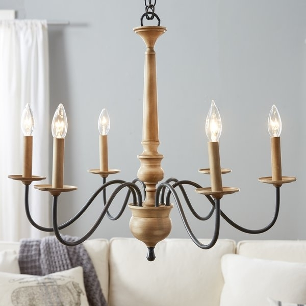 Candle Look Chandeliers Throughout Popular Birch Lane™ Edson 6 Light Candle Style Chandelier & Reviews (View 3 of 10)