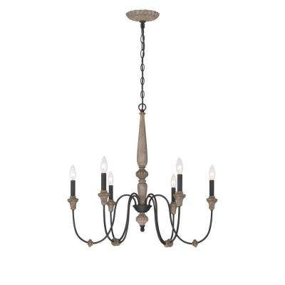 Candle Style – Chandeliers – Lighting – The Home Depot Regarding Most Recently Released Candle Light Chandelier (View 8 of 10)
