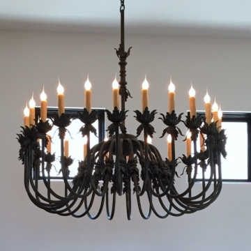 Cast Iron Chandelier For Popular Wrought Iron Lighting & Chandeliers, Mission Lighting, Spanish (View 1 of 10)