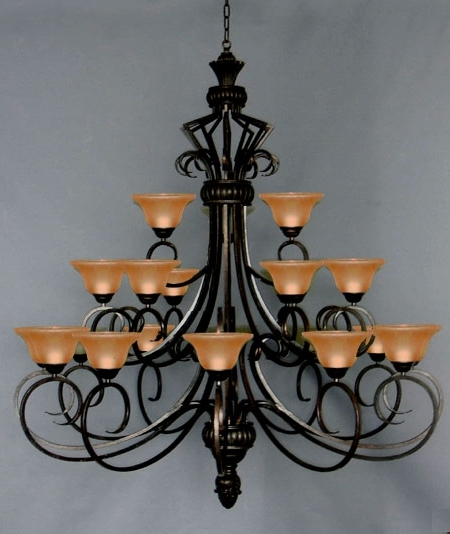 Cast Iron Chandelier Intended For 2018 J10 568/21 Gallery Wrought Iron Wrought Iron Chandelier (View 7 of 10)
