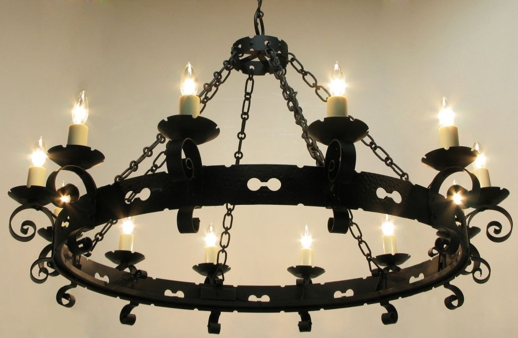 Cast Iron Chandelier Intended For Well Known Large Wrought Iron Chandeliers Lamp World Throughout Cast Chandelier (View 2 of 10)