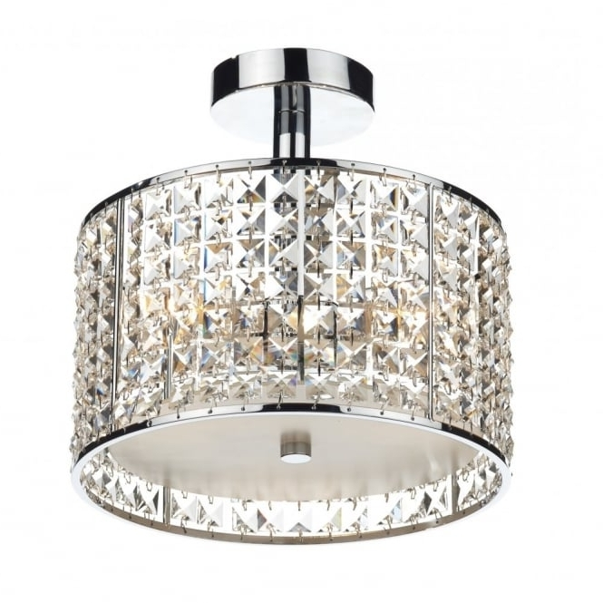 Chandelier Bathroom Ceiling Lights In 2017 Modern Bathroom Ceiling Light, Chrome & Crystal Design. Ip44 Rated (View 2 of 10)
