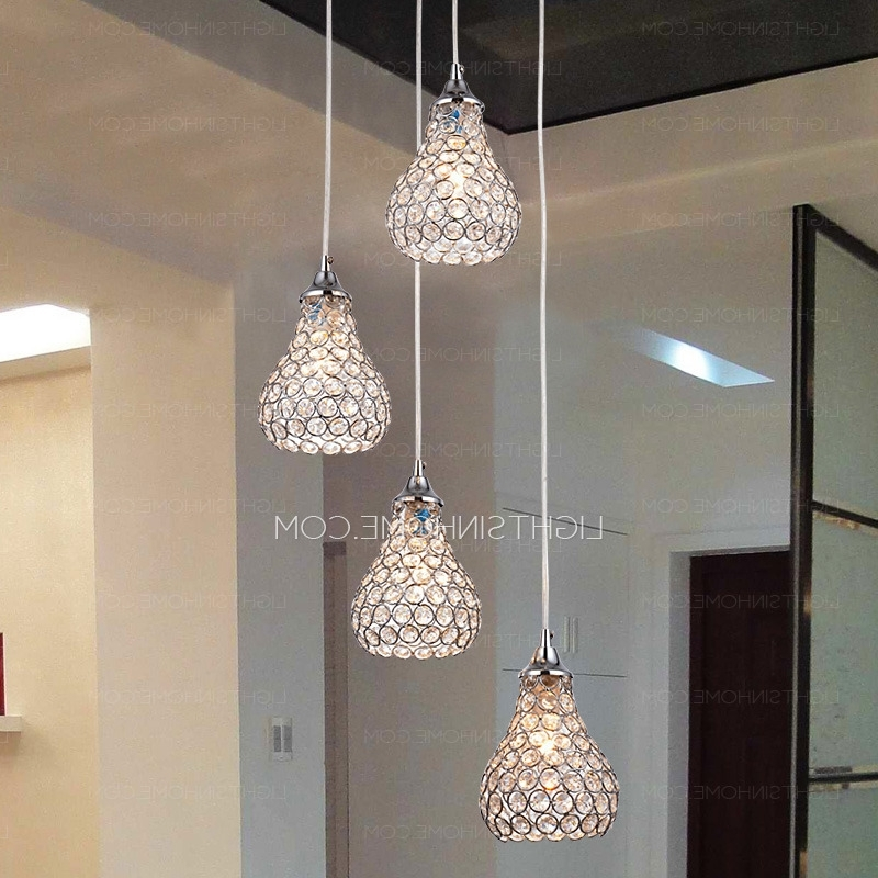 Chandelier Bathroom Ceiling Lights Pertaining To Best And Newest Modern 4 Light Octagon Bead Bathroom Pendant Lights (View 3 of 10)