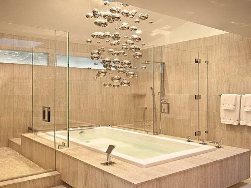 Chandelier Bathroom Lighting Fixtures In Most Popular Luxury Chandelier Lighting Fixtures Contemporary Bathroom Light (View 1 of 10)