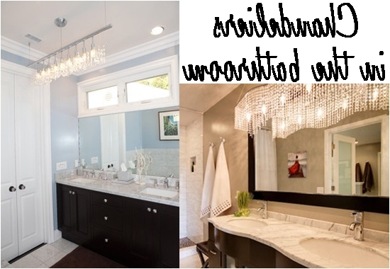 Chandelier Bathroom Lighting Fixtures With Regard To Latest Good Bathroom Crystal Light Fixtures Impressive Small Chandelier (View 2 of 10)