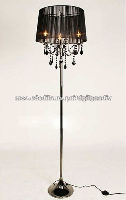 Chandelier Floor Lamp Jeffreypeak For Attractive House Standing Regarding Latest Black Chandelier Standing Lamps (View 5 of 10)