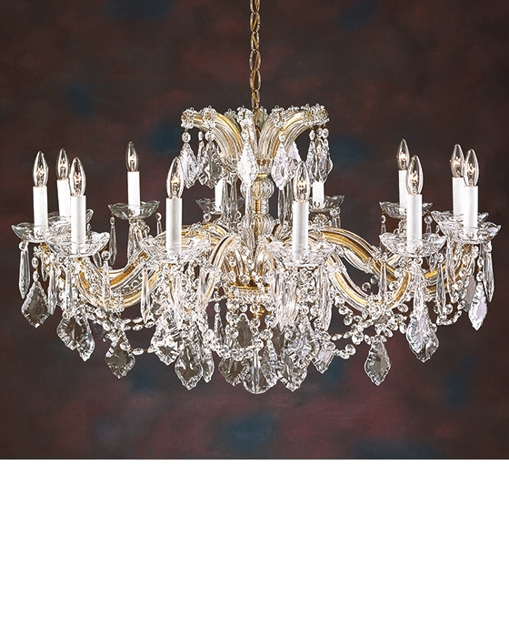 Chandelier For Low Ceiling Pertaining To Recent Crystal Chandelie And Maria Theresa Crystal Chandelier For Low Ceiling (View 3 of 10)