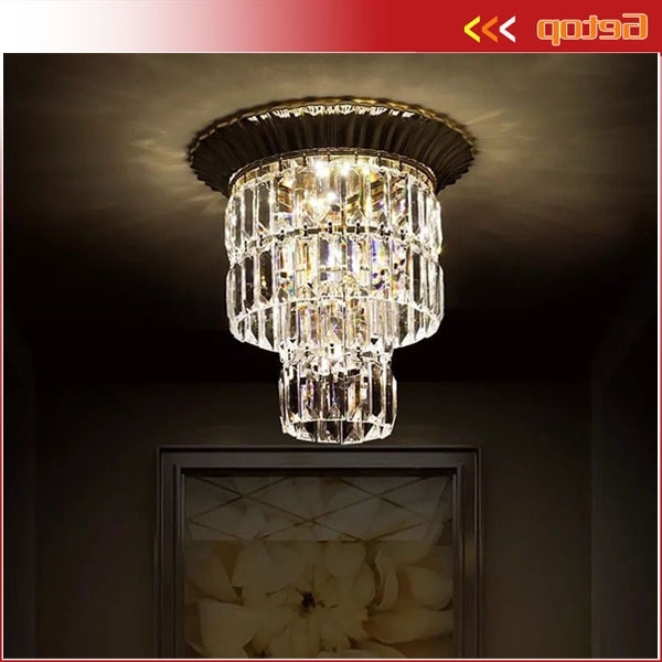 Chandelier For Restaurant Pertaining To Trendy Modern Led Crystal Ceiling Lamp Round Chandelier For Restaurant (View 10 of 10)