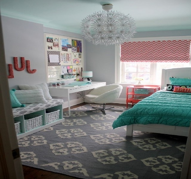 Chandelier For Teenage Girl Bedroom Marvelous 50 Turquoise Room With 2017 Turquoise Bedroom Chandeliers (View 2 of 10)
