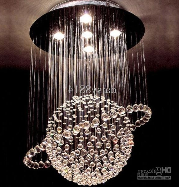 Chandelier Lights Pertaining To Well Liked Hot Sales Modern Style Crystal Ball Chandelier Led Lights Dia (View 3 of 10)