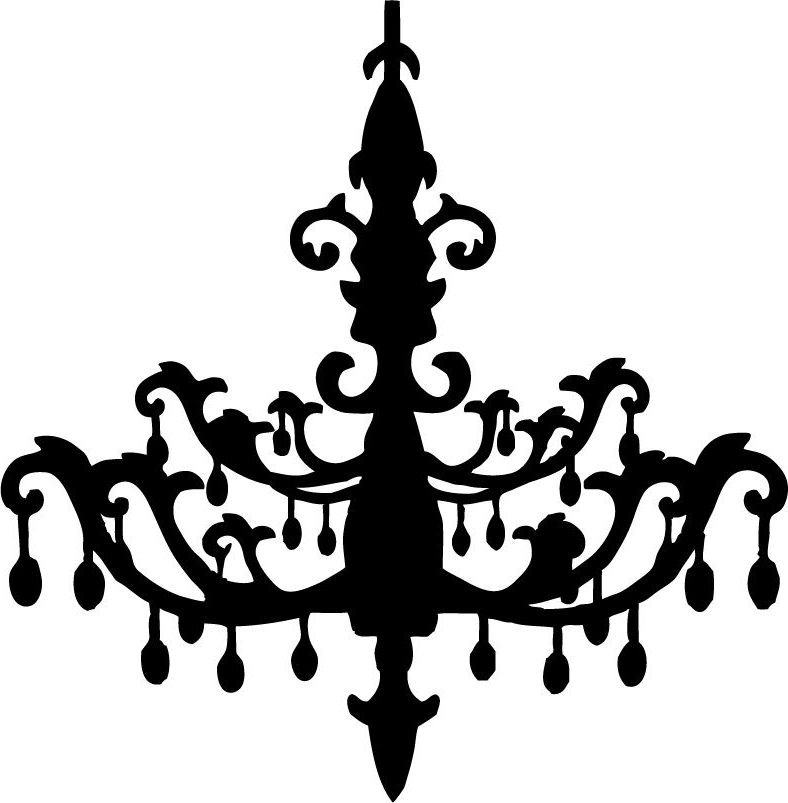 Chandelier Silhouette Clip Art Clipart Panda Free Clipart Images With Well Known Clip On Chandeliers (View 3 of 10)