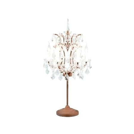 Chandelier Table Lamp – Processcodi Inside Fashionable Mini Chandelier Table Lamps (View 3 of 10)
