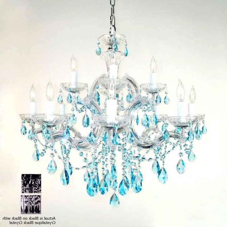 Chandelier : Turquoise Chandelier Crystals Classic Lighting Light Intended For Popular Turquoise Chandelier Crystals (View 4 of 10)