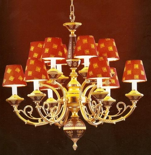 Chandelier With Lamp Shades Red Lampshade China Manufacturer Inside 2017 Chandelier Lampshades (View 5 of 10)