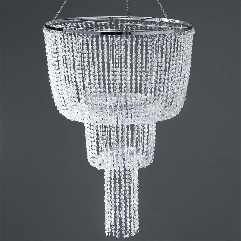 Chandeliers ~ Faux Crystal Chandelier Table Lamp 26 Long Faux In Most Current Faux Crystal Chandelier Centerpieces (View 2 of 10)