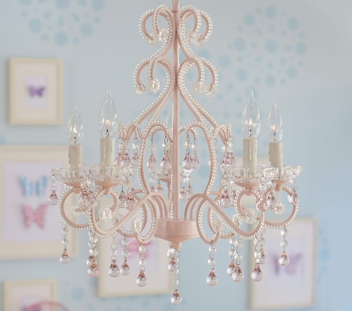 Chandeliers For Kids Inside Preferred Pink Lydia Chandelier (View 2 of 10)
