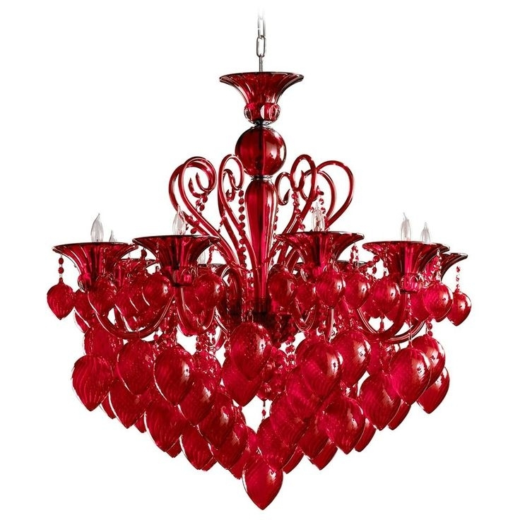 Chandeliers For Newest Small Red Chandelier (View 2 of 10)