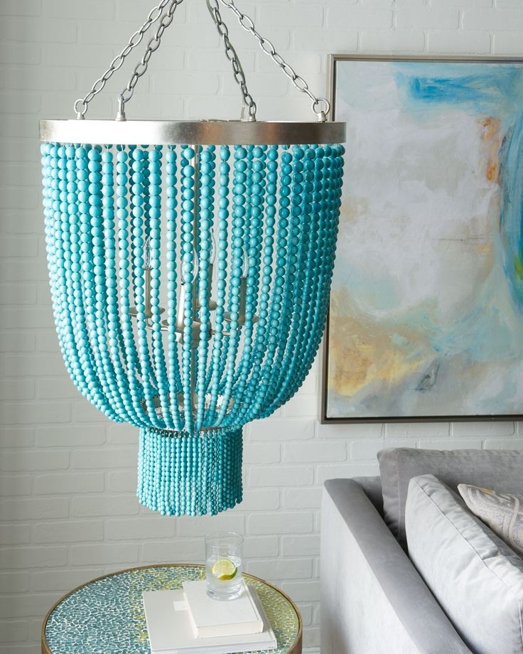 Chandeliers, Light With Regard To Favorite Diy Turquoise Beaded Chandeliers (View 2 of 10)