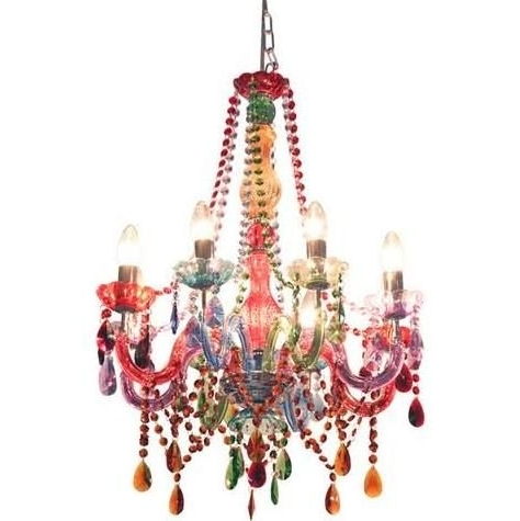 Chandeliers With Coloured Glass Chandelier (View 2 of 10)