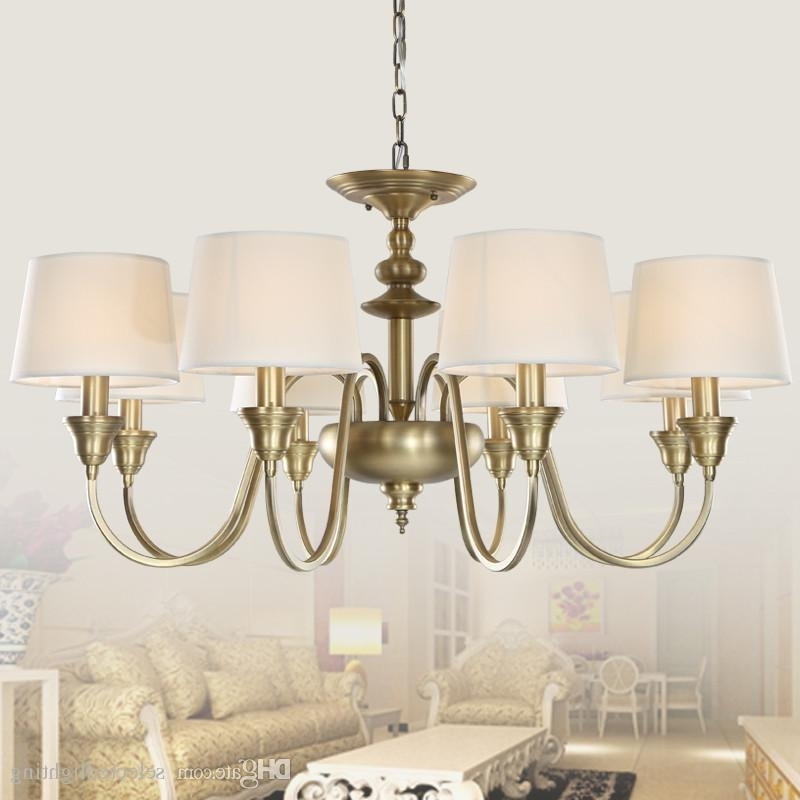 Chandeliers With Lamp Shades Inside Preferred European Vintage 3 Lights Single Tier Chandelier Ceiling Lights (View 5 of 10)