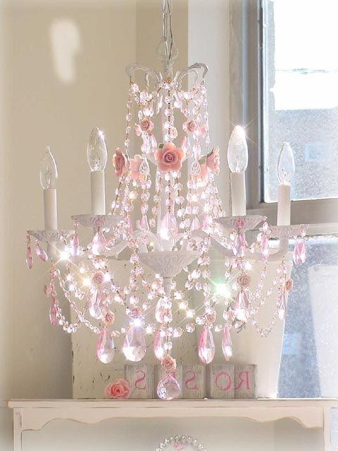 Cheap Chandeliers For Baby Girl Room Inside Favorite Chandelier: Astonishing Chandelier For Girls Room Wallpops (View 4 of 10)