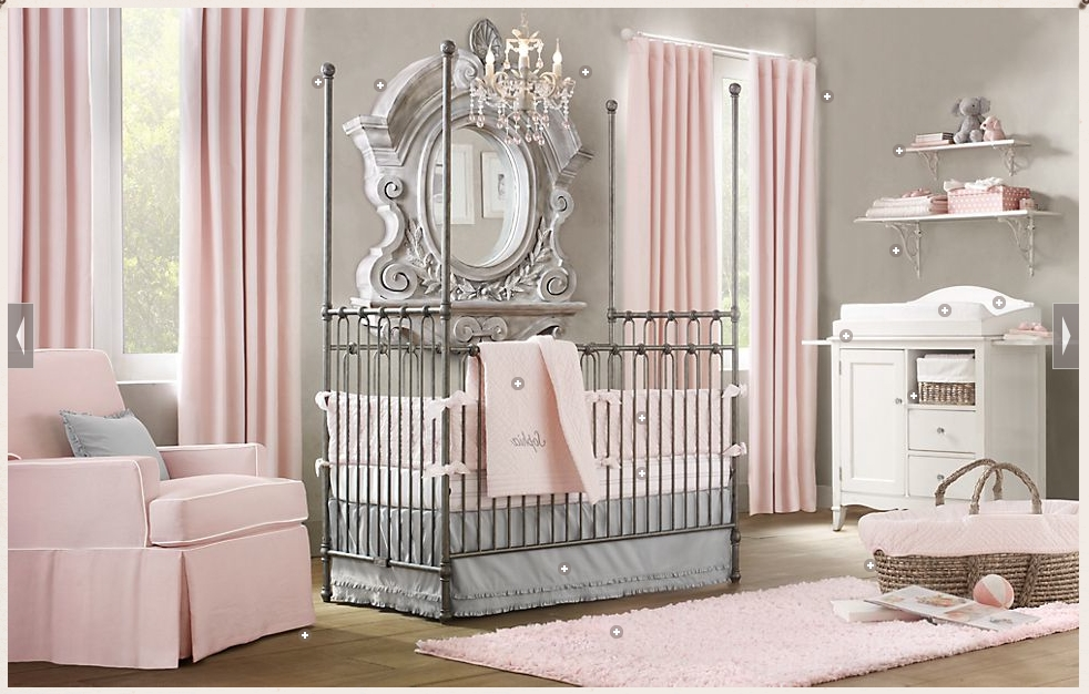 Cheap Chandeliers For Baby Girl Room With Regard To Well Liked Baby Nursery Decor: Gallery Baby Nursery Chandeliers Sample Themes (View 5 of 10)