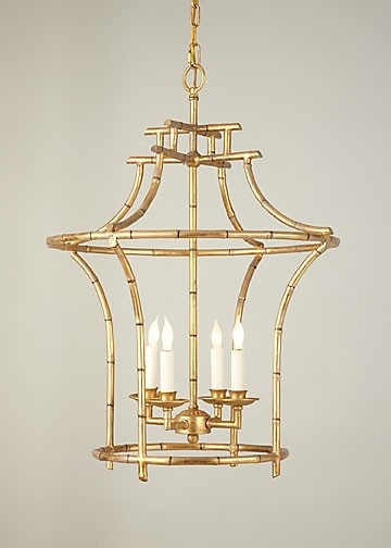 Chinoiserie Chandeliers Inside Popular Gold Faux Bamboo Chandelier (View 2 of 10)
