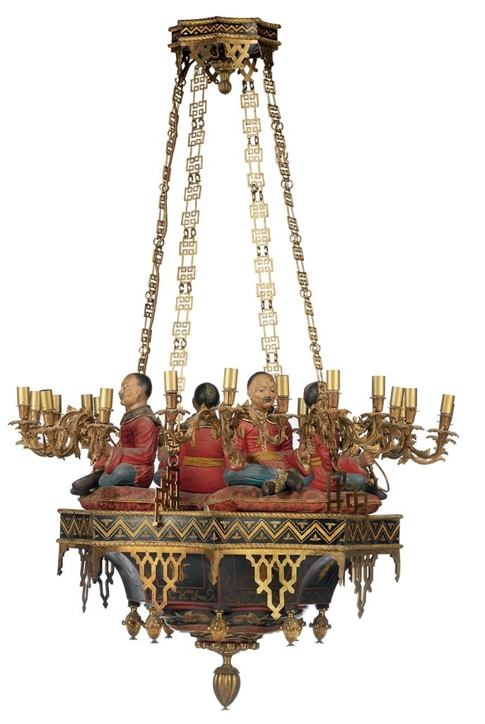 Chinoiserie Chandeliers With Preferred A Chinoiserie Ormolu Gilt And Polychrome Decorated Twenty Four Light (View 3 of 10)