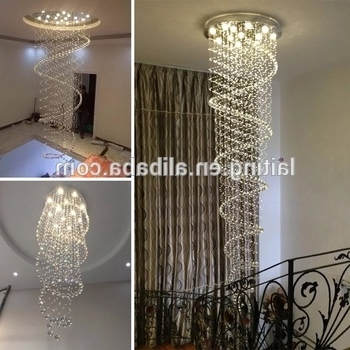 Christmas Lights Drop Crystal Chandelier Modern Waterfall Wedding In Favorite Waterfall Crystal Chandelier (View 5 of 10)